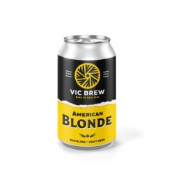 Vic Brewery American Blonde, lata de 330 ml.
