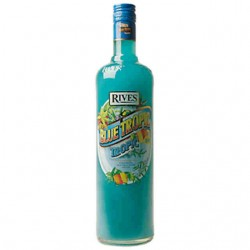 Jarabe Blue Tropic Sin Alcohol Rives 1 L