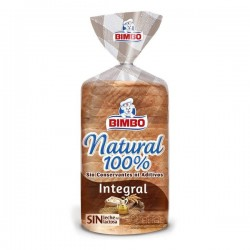 Pan de Molde Integral 100% Natural Bimbo 450 Gr